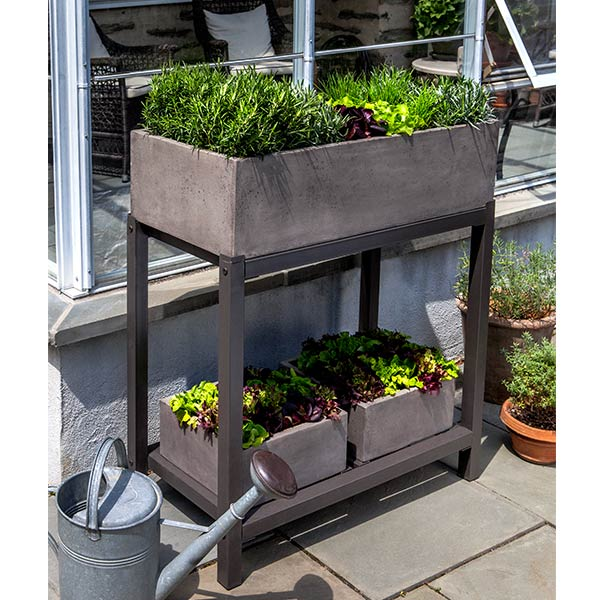 Garden Anywhere Fiber Cement Planter Bench