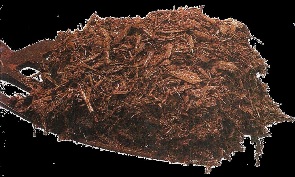 pitchfork with mulch